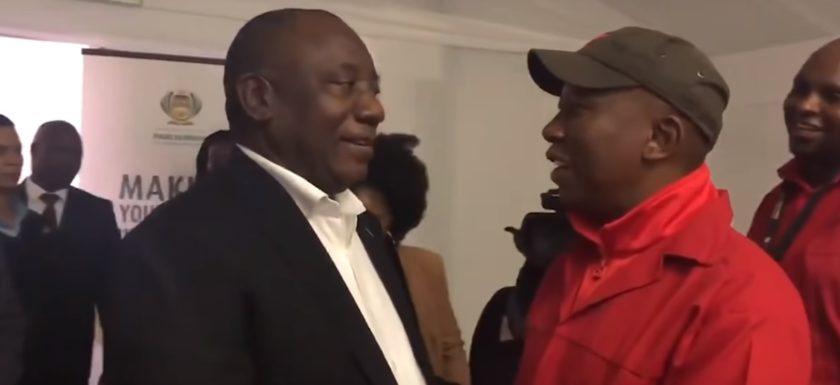 Nuus Ramaphosa and Julius Malema