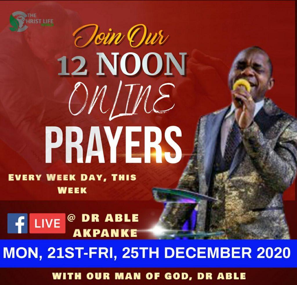 Gebed vir die dag Desember 2020