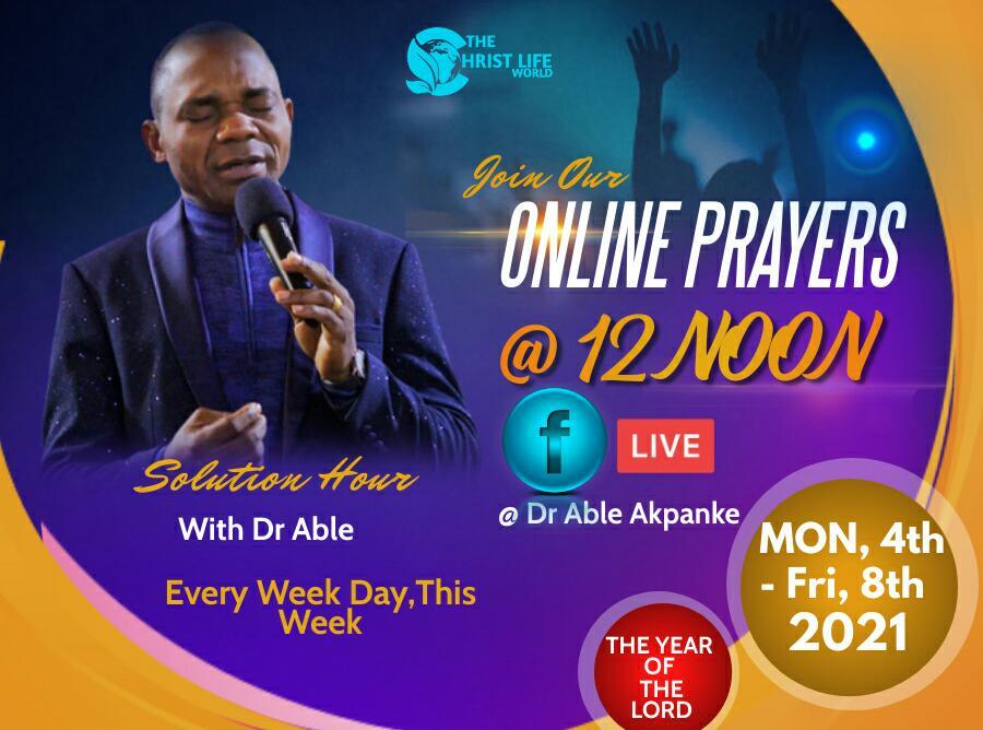 Gebed vir die dag Januarie 2021